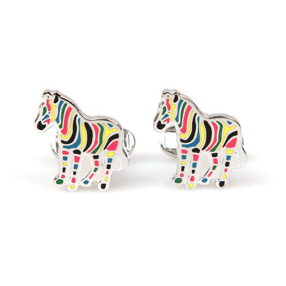 Paul Smith Mens Multicoloured Stripe Zebra Cufflink main image