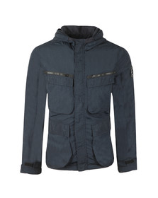 Marshall Artist Mens Blue Garment Dyed Field Jacket