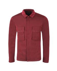 Marshall Artist Mens Red Liquid Bellow Pocket Overshirt