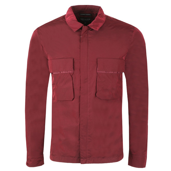 02b8091d0fb Marshall Artist Mens Red Liquid Bellow Pocket Overshirt main image