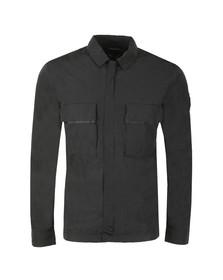 Marshall Artist Mens Black Liquid Bellow Pocket Overshirt