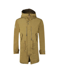 Pretty Green Mens Green Zip Through Hooded Parka