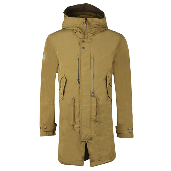 Pretty Green Mens Green Zip Through Hooded Parka main image