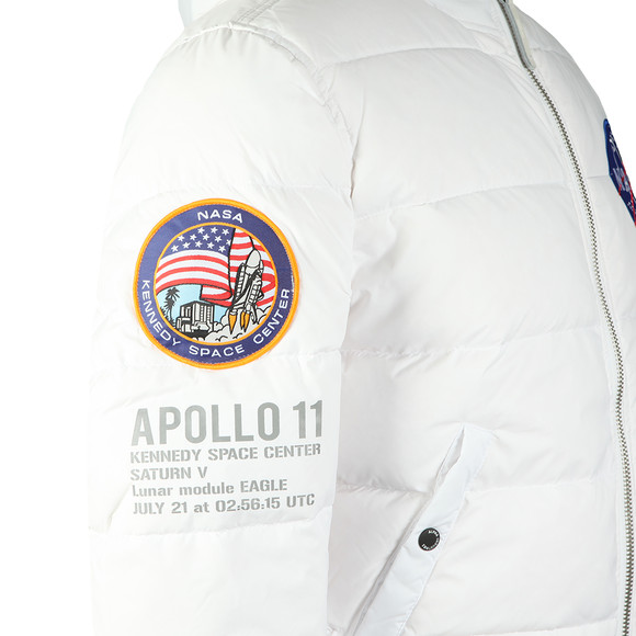 Alpha Industries Mens White Apollo 11 Hooded Puffer main image