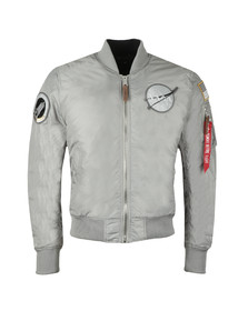 Alpha Industries Mens Grey MA-1 NASA Reversible Bomber