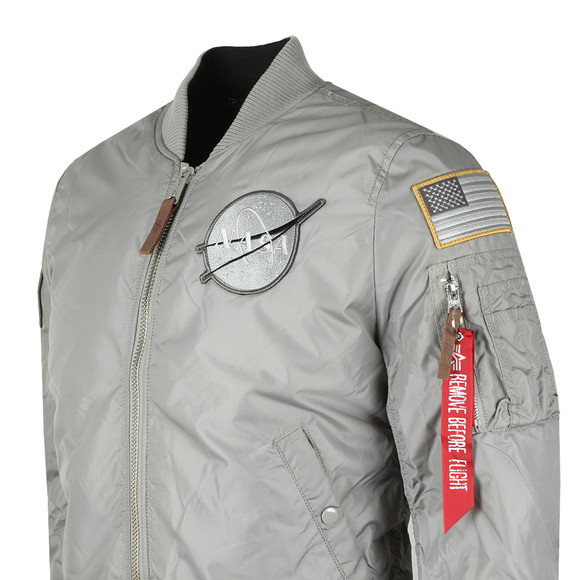 Alpha Industries Mens Grey MA-1 NASA Reversible Bomber main image