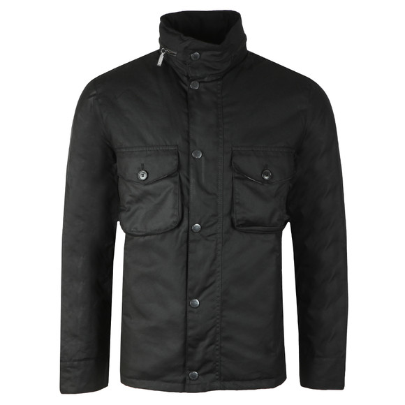 Barbour Lifestyle Mens Black Netherley Wax Jacket main image