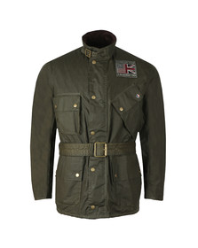 Barbour Int. Steve McQueen Mens Green Joshua Wax Jacket