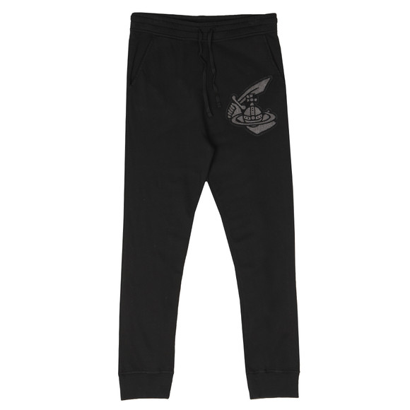 Vivienne Westwood Anglomania Mens Black Tracksuit Bottom With Patch Logo main image