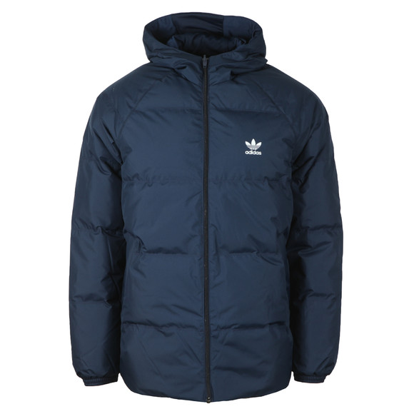 adidas Originals Mens Blue SST Down Hooded Jacket