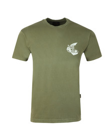 Vivienne Westwood Anglomania Mens Beige Boxy Small Arm & Cutlass T Shirt