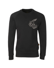 Vivienne Westwood Anglomania Mens Black Classic Sweatshirt With Patch Logo