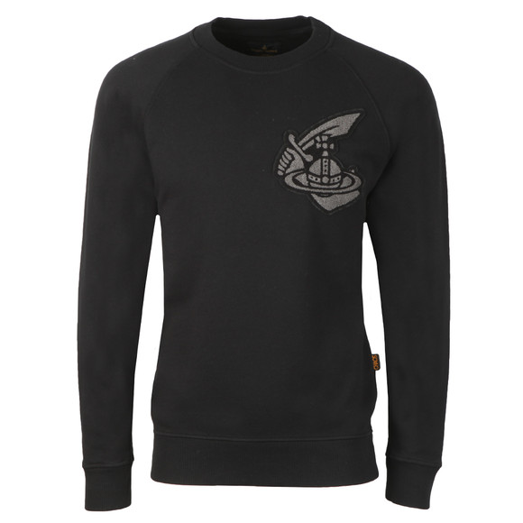Vivienne Westwood Anglomania Mens Black Classic Sweatshirt With Patch Logo main image