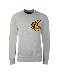 Vivienne Westwood Anglomania Mens Grey Classic Sweatshirt With Patch Logo