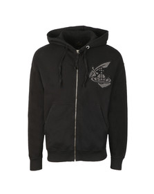 Vivienne Westwood Anglomania Mens Black Classic Hoody With Patch Logo