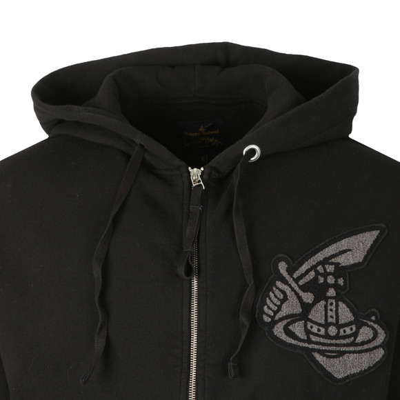 Vivienne Westwood Anglomania Mens Black Classic Hoody With Patch Logo main image
