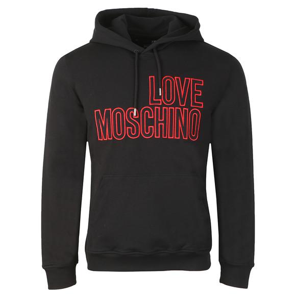 Love Moschino Mens Black Large Logo Overhead Hoody main image