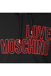 Love Moschino Mens Black Large Logo Overhead Hoody