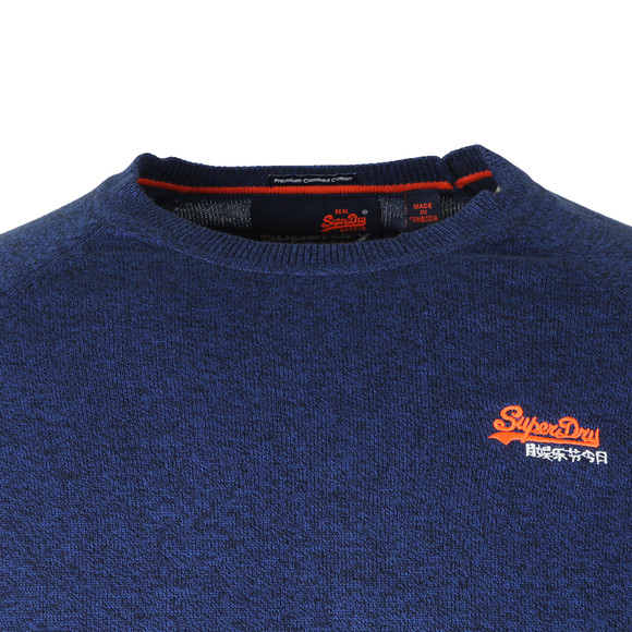 Superdry Mens Blue Orange Label Crew Jumper main image