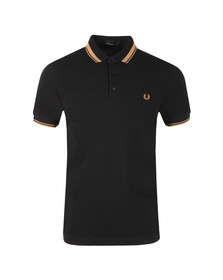 Fred Perry Mens Black S/S Contrast Tipped Polo