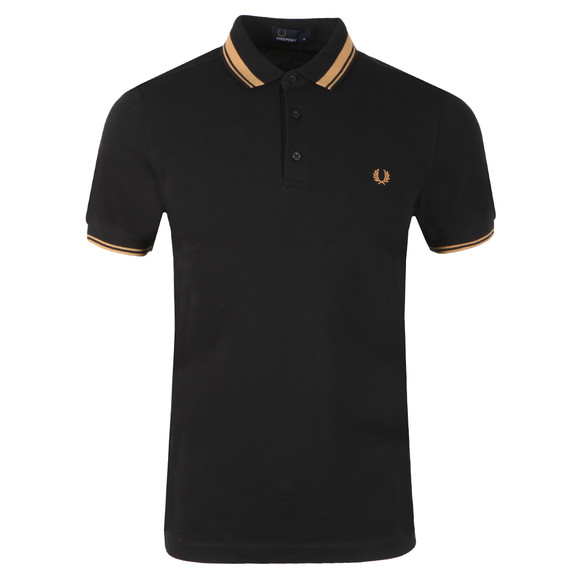 Fred Perry Mens Black S/S Contrast Tipped Polo main image