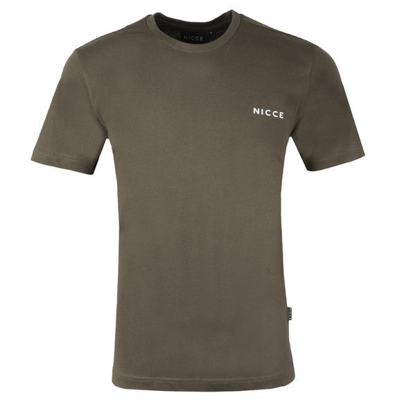 Nicce Mens Green Chest Logo  T Shirt main image