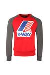 K-Way Mens Red Le Vrai Floyd Sweat