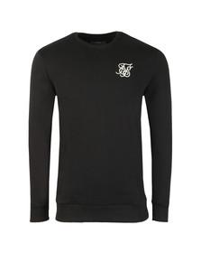 Sik Silk Mens Black Curved Hem Crew Sweatshirt