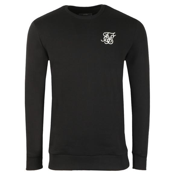 Sik Silk Mens Black Curved Hem Crew Sweatshirt main image