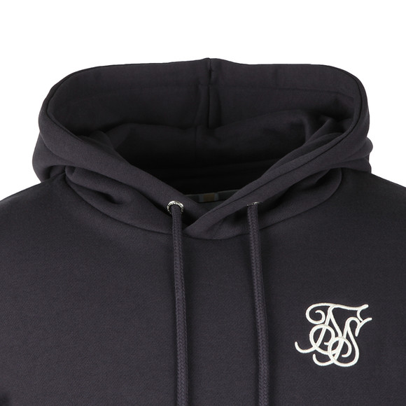 Sik Silk Mens Blue Muscle Fit Overhead Hoodie main image