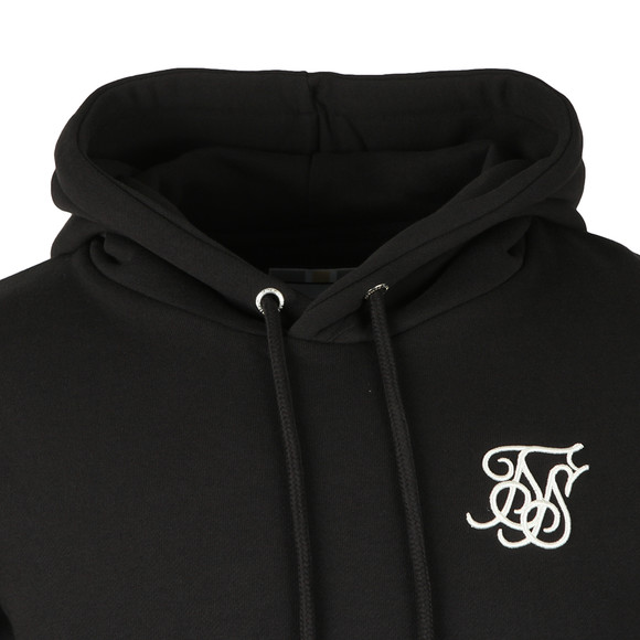 Sik Silk Mens Black Muscle Fit Overhead Hoodie main image