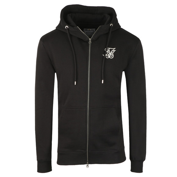 Sik Silk Mens Black Muscle Fit Zip Through Hoodie main image