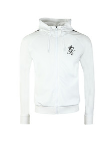Gym King Mens White Omar Poly Track Top