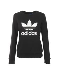Adidas Originals Womens Black Crew Neck Sweater