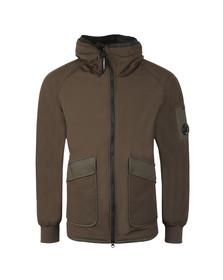 C.P. Company Mens Grey Long Fleece Lined Shell Jacket