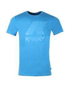 K-Way Mens Blue Elliot Macro Logo T Shirt