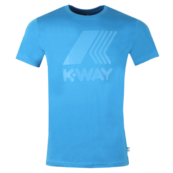 K-Way Mens Blue Elliot Macro Logo T Shirt main image