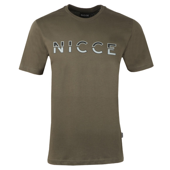 Nicce Mens Green Split Logo T-Shirt main image