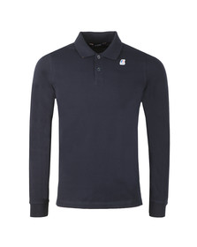 K-Way Mens Blue Rochel Stretch Long Sleeve Polo Shirt