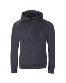 K-Way Mens Blue Macro Logo Spacer Hoodie