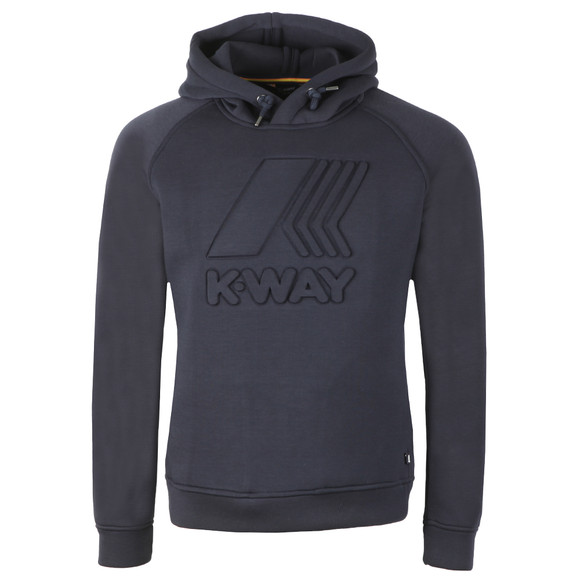 K-Way Mens Blue Macro Logo Spacer Hoodie main image