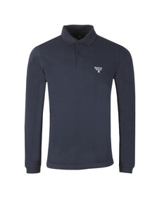 Barbour Beacon Mens Blue L/S Polo