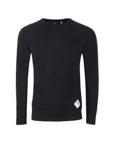 Barbour Beacon Mens Blue Lambswool Crew Jumper