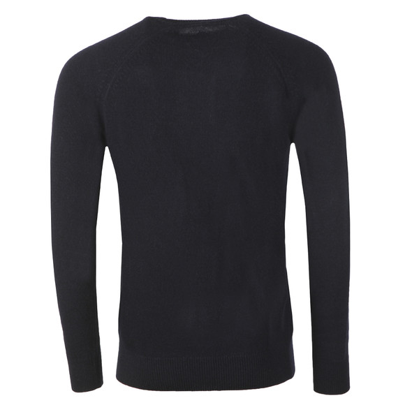 Barbour Beacon Mens Blue Lambswool Crew Jumper main image