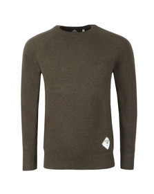 Barbour Beacon Mens Green Lambswool Crew Jumper