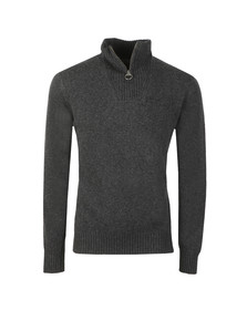 Barbour Lifestyle Mens Grey Lambswool 1/2 Zip Jumper