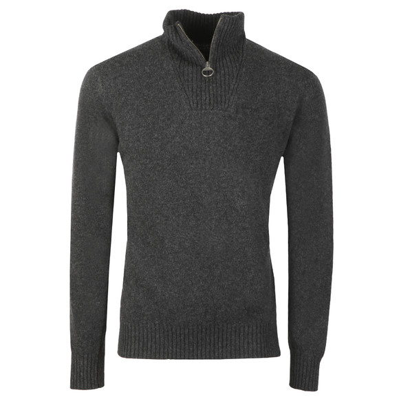 Barbour Lifestyle Mens Grey Lambswool 1/2 Zip Jumper main image