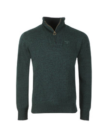 Barbour Lifestyle Mens Green Lambswool 1/2 Zip Jumper
