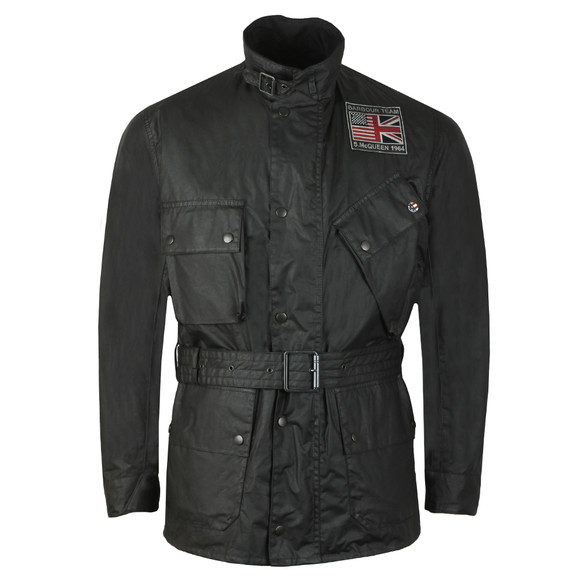 Barbour Int. Steve McQueen Mens Black Joshua Wax Jacket main image