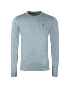 Psycho Bunny Mens Blue Classic Long Sleeve T Shirt